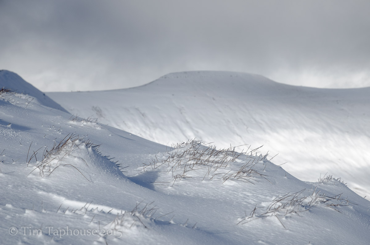 Corn Du, Brecon Beacons, in snow