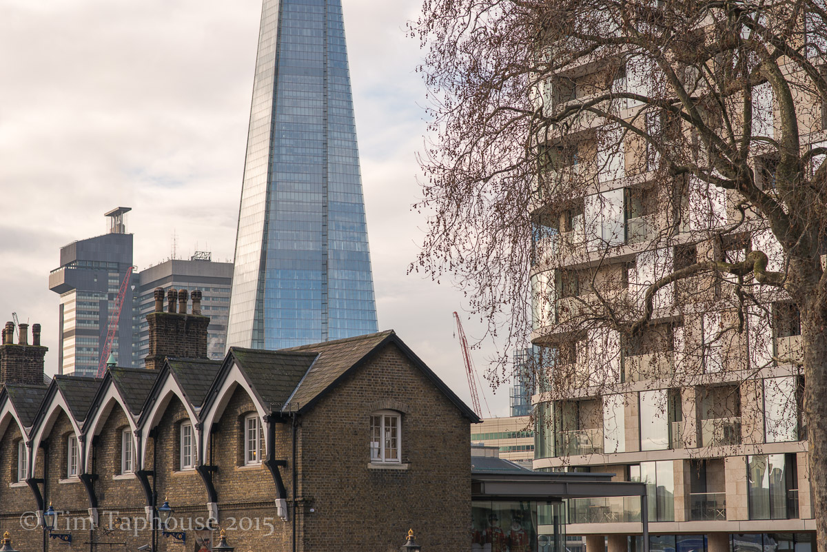 London, near the Tower, the Shard behind